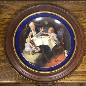 NORMAN ROCKWELL Fine China Plate THE GOURMET